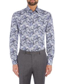Without Prejudice Blue floral casual shirt