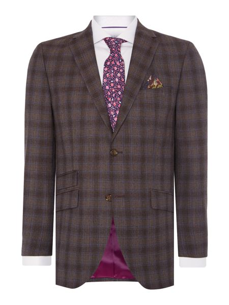 Without Prejudice Wool Check Suit