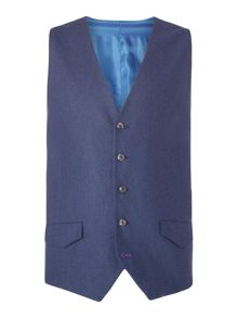 Without Prejudice Blue Wool Waistcoat