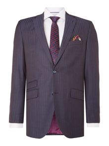 Without Prejudice Blue Herringbone Suit