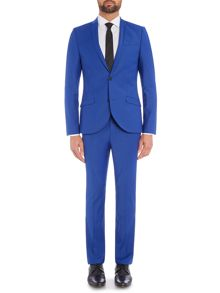 Blue plain suit