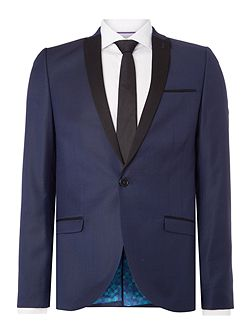 Navy patterned suit