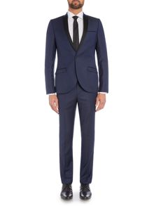 Without Prejudice Navy patterned suit