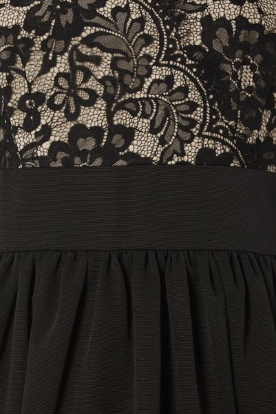Roman Originals Contrast Lace Skater Dress