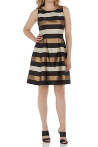 Roman Originals Metallic Stripe Detail Skater Dress