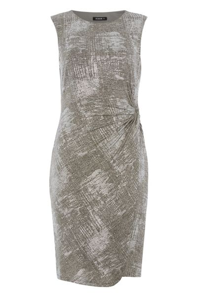 Roman Originals Metallic Side-Ruched Foil Dress