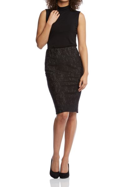 Roman Originals Jacquard Pencil Skirt