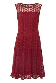 Roman Originals Fit and Flare Lace Dress