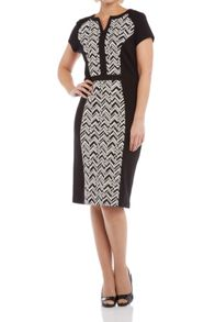 Roman Originals Contrast Panel Jersey Dress