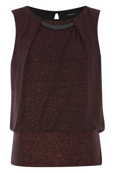 Roman Originals Glitter Half Moon Top