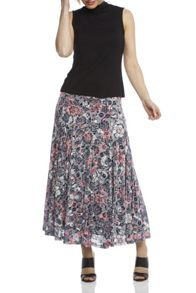 Roman Originals Floral Burnout Skirt
