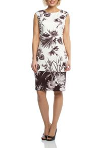 Roman Originals Floral Printed Scuba Dress