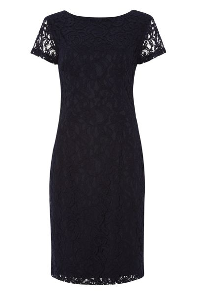 Roman Originals Short Sleeve Luxe Lace Dress
