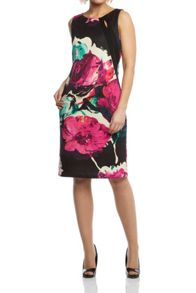 Roman Originals Floral Cut Out Scuba Dress