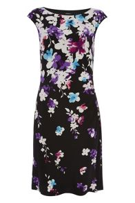 Roman Originals Round Neck Floral Jersey Dress