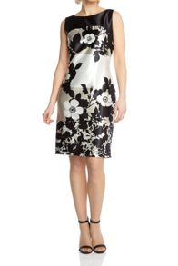 Roman Originals Contrast Floral Shift Dress