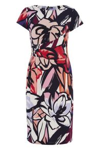 Roman Originals Abstract Floral Jersey Dress