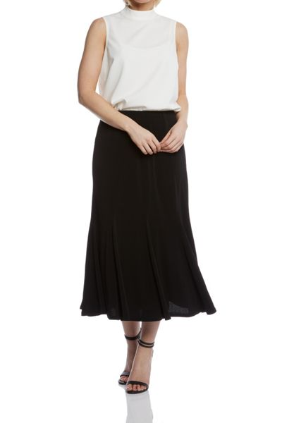 Roman Originals Panelled Fluted Hem Skirt