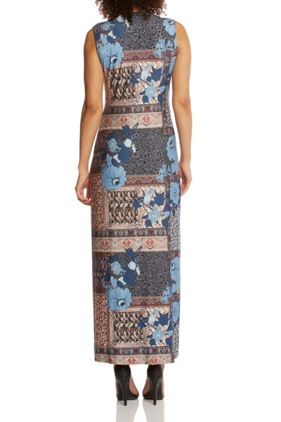 Roman Originals Patchwork Jersey Maxi Dress