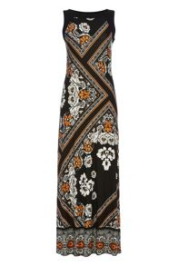 Roman Originals Tile Print Maxi Dress