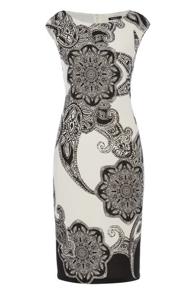 Roman Originals Paisley Print Scuba Dress