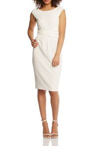 Roman Originals Textured Front Twist Dress