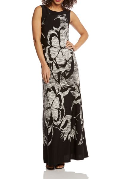 Roman Originals Floral Border Print Maxi Dress