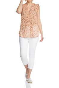 Roman Originals Floral Pleated Front Top