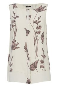 Roman Originals Layered Floral Lily Print Top