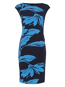 Floral Printed Jersey Dress