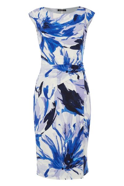 Roman Originals Abstract Underwater Floral Print Dress