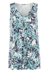 Roman Originals Tropical Print Swing Vest