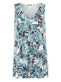 Tropical Print Swing Vest
