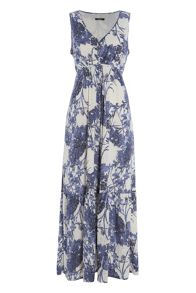Roman Originals Floral Burnout Maxi Dress