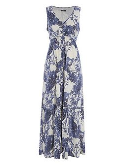 Floral Burnout Maxi Dress