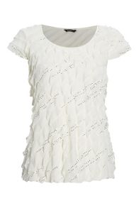 Roman Originals Sequin Frill Top