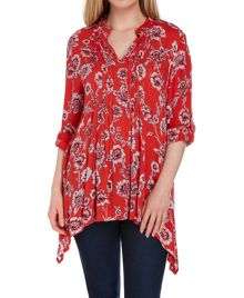 Roman Originals Floral Pin Tuck Blouse