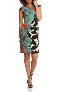 Roman Originals Statement Leaf Print Jersey Dress