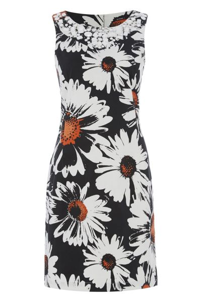 Roman Originals Daisy Print Cotton Shift Dress