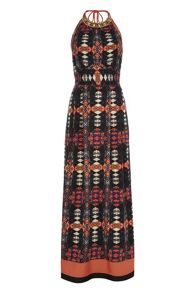 Roman Originals Tribal Print Maxi Dress