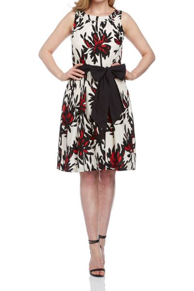 Roman Originals Printed Fit And Flare Dress
