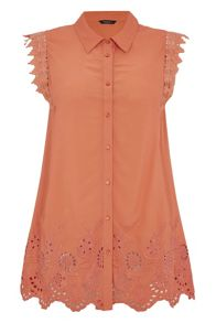 Roman Originals Embroidered Lace Detail Blouse