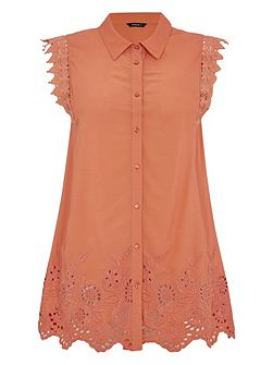 Embroidered Lace Detail Blouse