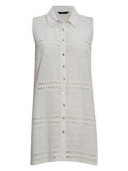 Longline Embroidered Blouse