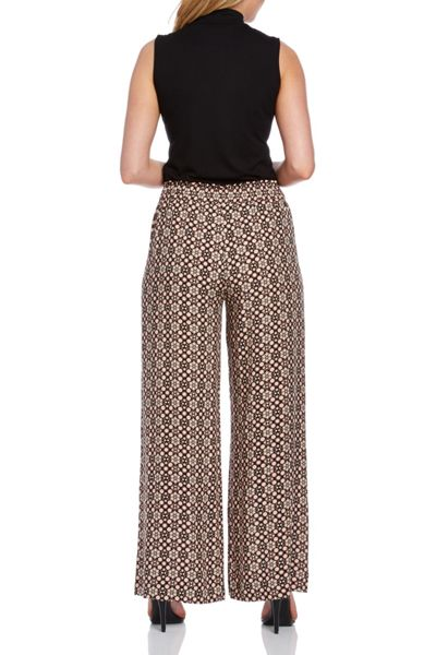 Roman Originals Printed Wide Leg Trousers