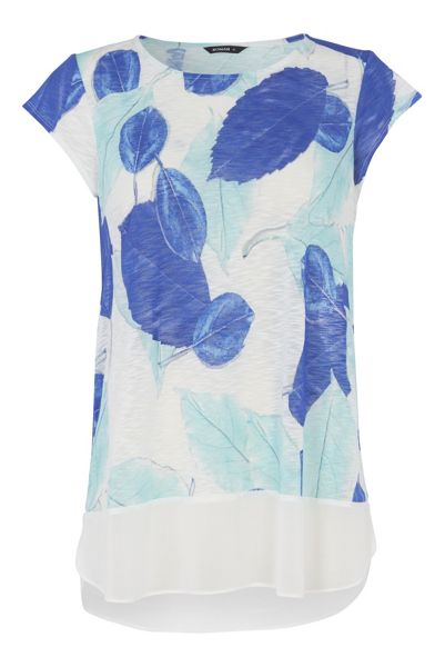 Roman Originals Leaf Print Slub T-Shirt