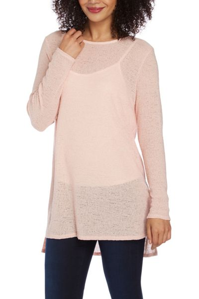 Roman Originals Long Sleeve Knit Look Top