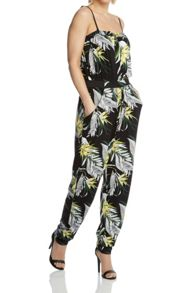 Roman Originals Tropical Print Jumpsuit