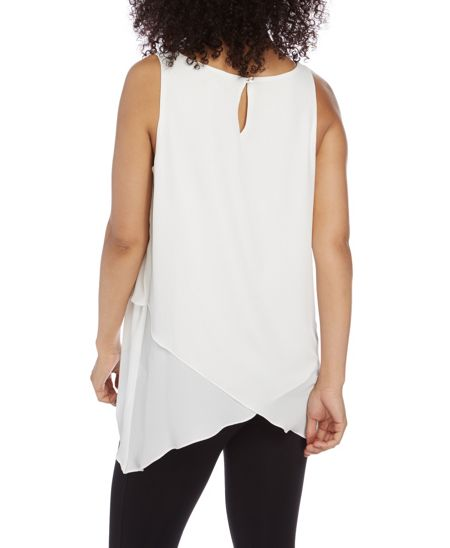 Roman Originals Sleeveless Asymmetric Top
