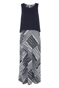 Roman Originals Double Layer Printed Maxi
